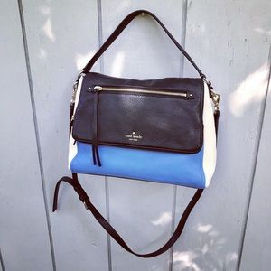 Very large KATE SPADE Cobble Hill color block bag